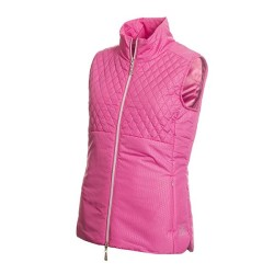 Green Lamb Ladies Karen Embossed Padded Gilet Orchid
