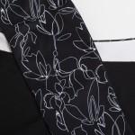 Green Lamb Ladies Remy Half Zip Side Panel Top Black / White