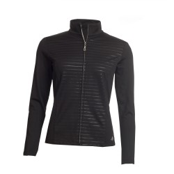 Green Lamb Ladies Renata Full Zip Stripe Top Black