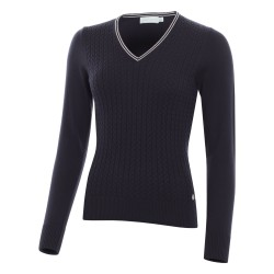 Green Lamb Brid Cable Sweater Navy