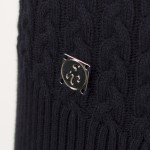 Green Lamb Brid Cable Sweater Navy