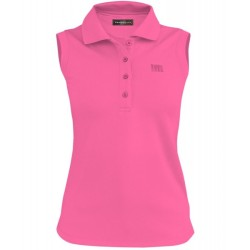 Loudmouth Women's Essential Sleeveless Polo Shirt - Carmine