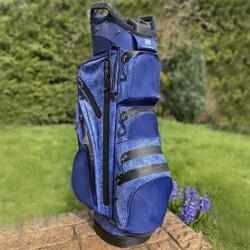 Surprize Shop Waterproof Ladies Golf Bag - Navy Snake